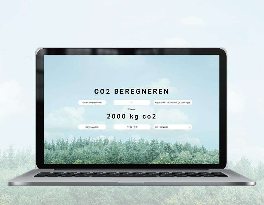 Mockup af CO2beregneren