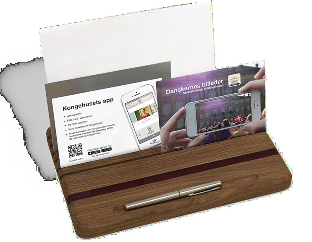 Mockup af Kongehusets go-cards i forbindelse med Kongehusets app lancering
