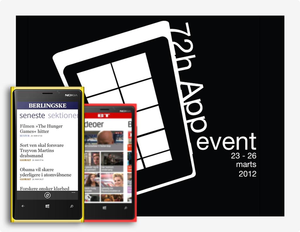 Mockup af BT og Berlingske media',s Windows app's ved Lumia 800 presentationen