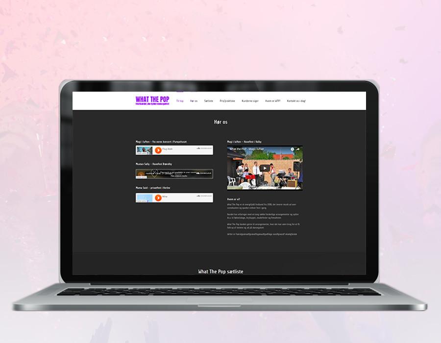 Et billede af What the pops hjemmeside