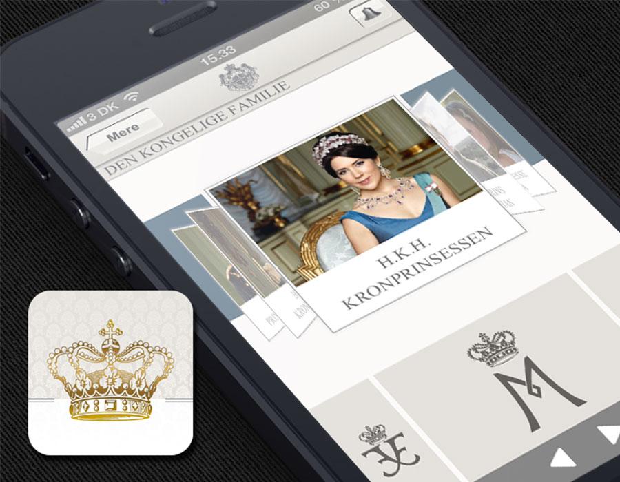 Mockup af den Royale app