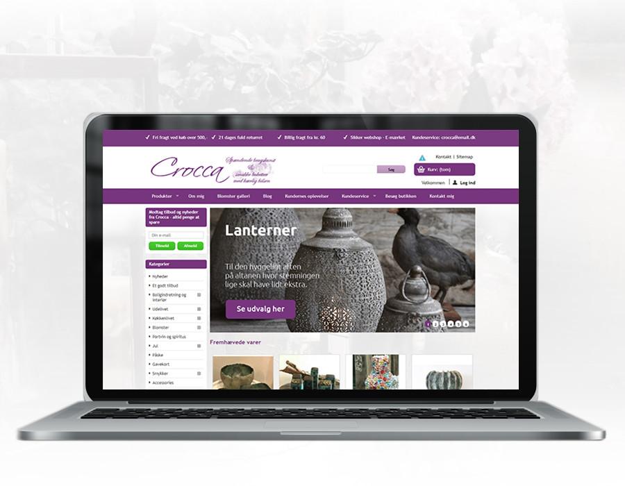 Crocca brugkunst hjemmeside shop